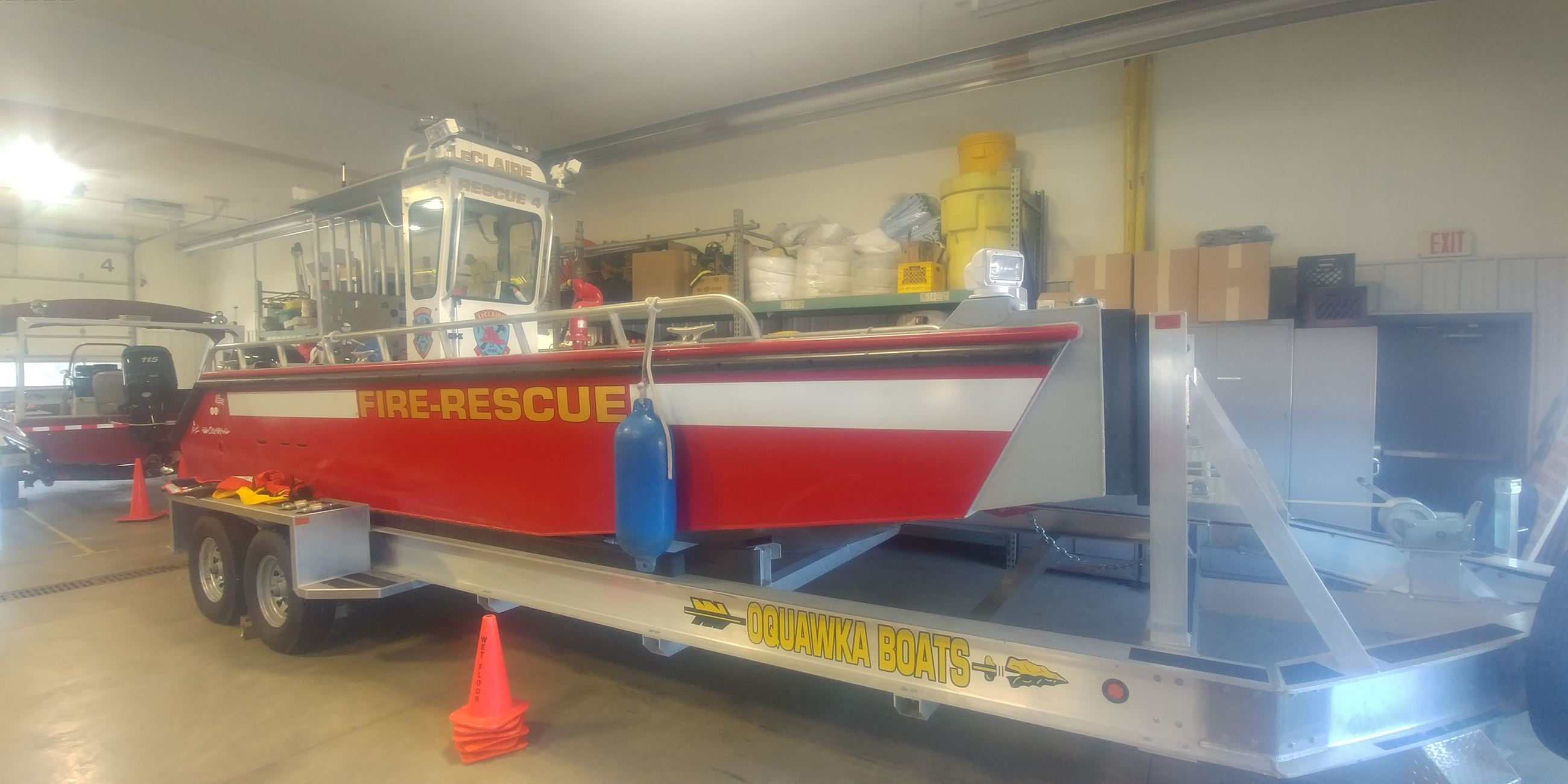 rescue 3 on trailer