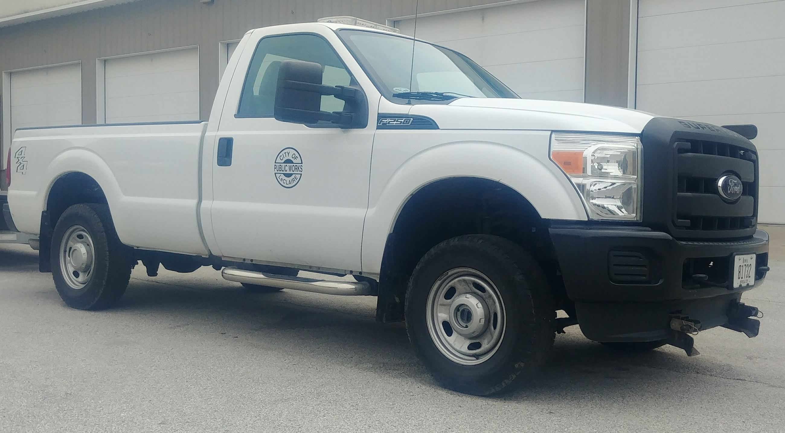 2012 White Ford F250 Public Works Pickup